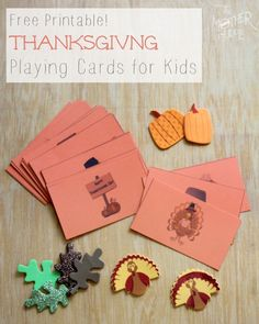 Printable Thanksgiving Playing Cards for Kids - The Mother Huddle