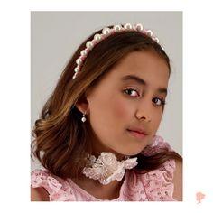 Flower Girl Hair Accessories, Wedding Hair Accessories, Girls Accessories, Flower Girl Hairstyles, Party Hairstyles, Wedding Hairstyles, Hair Garland, Flower Girl Gifts, Kids Branding