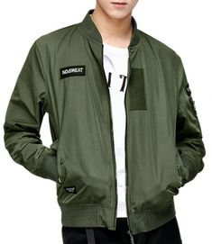 9b6ad3dcbe76 Men s Splicing Band Collar Bomber Jacket AZBRO.com Men s Bomber Jackets