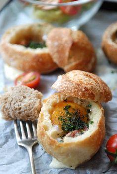 Petits pains d'oeuf à la coque