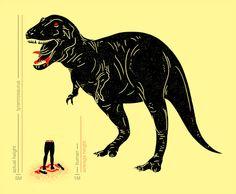 T-Rex vs. man.