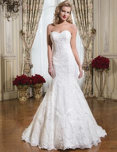 Don's Bridal Sexy Tulle Sweetheart Neck Lace Appliques Sleeveless Formal Long Mermaid Wedding Dress 2016
