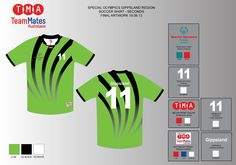 Artwork for the Special Olympics Victoria soccer shirts
