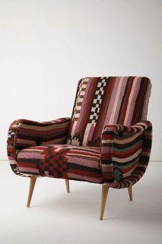 anthropologie, print chair