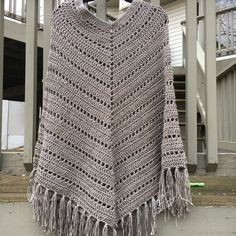 Another great color for the boho poncho! Can be worn this way or like the other photo in the listing!