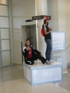 University of Cincinnati Bookstores, via Flickr. The UC bookstore had live mannequins as part of their celebrations #coolidea