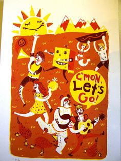 C'MON Let's Go Print by dnlhghs on Etsy