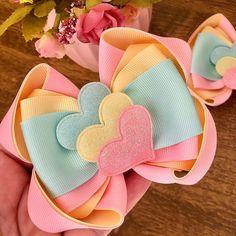 Baby Girl Hair Accessories, Handmade Hair Accessories, Diy Hair Accessories, Diy Bow, Diy Ribbon, Ribbon Bows, Bracelets Rainbow Loom, Diy Hairstyles, Little Girl Hairstyles