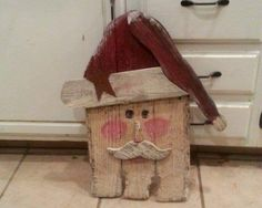 Rustic Primitive country santa from fence picket. Christmas Wood Crafts, Santa Crafts, Pallet Christmas, Primitive Christmas, Christmas Signs, Rustic Christmas, Christmas Art, Christmas Projects, Holiday Crafts