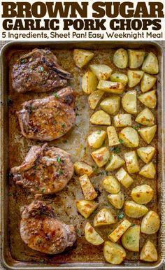 Oven Pork Chops, Easy Baked Pork Chops, Pork Chops And Potatoes, Yukon Potatoes, Pork Chop Marinade Baked, Pan Cooked Pork Chops, Cooking Pork Chops, Ranch Pork Chops, Gourmet
