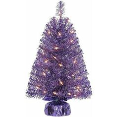 Holiday Time Xmas PreLit 2 Noble Fir Artificial Trees Clear Lights Gift Wrap Base Christmas Tree Stands PURPLE 1 >>> You can find out more details at the link of the image.