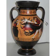 Ancient Greek black figure belly amphora vase