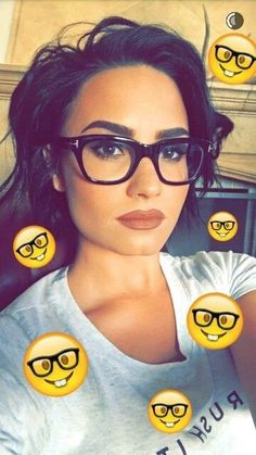 Cute glasses and makeup