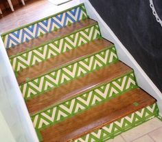 Give your home decor a more customized look with these quick and simple builders tape DIY projects. Perfect for your living room, bedroom, kitchen, wall and entryway decor these ideas are on a budget and look expensive. #hometalk Basement Flooring Options, Painted Stairs, Mountain Mural, Diy Dresser Makeover, Faux Brick Walls, Old Windows, Easy Home Decor, Learn To Paint, Entryway Decor