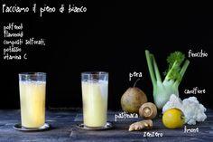 6 estratti a colori per una sana alimentazione ricette e proprietà Smoothie Drinks, Raw Food Recipes, Glass Of Milk, Detox, Juice, Vegan, Breakfast, Health, Chakra