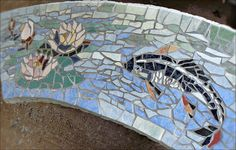 Bench mosaic by Tamara