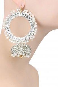 Silver Gota Large Jhumki Hoops Earrings #aprajitatoor #jewellery #shopnow #ppush #happyshopping
