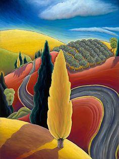 oil pastel art by Jane Aukshunas