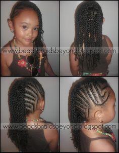 Remarkable Cornrows Little Girls And Twists On Pinterest Short Hairstyles Gunalazisus