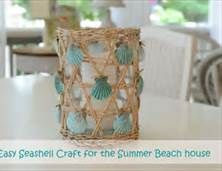 15 DIY Beach Inspired Home Decor Projects so you can add a coastal vibe to your home on a budget! Coastal DIY home decor ideas, DIY projects, nautical home decor, beach cottage, easy crafts Seashell Candles, Seashell Art, Seashell Crafts, Beach Crafts, Diy Crafts, Ocean Crafts, Seashell Projects, Nautical Home, Nautical Craft