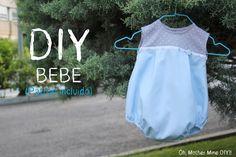 DIY Ropa bebé: Cómo hacer una ranita de niño (patrón en varias tallas) (Oh…
