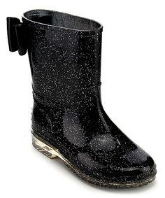 Your little lady has fancy feet in these sparkly shoes that keep her feet dry on days when it sprinkles.