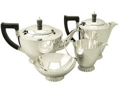 Sterling Silver Four Piece Tea and Coffee Service - Art Deco Style - Vintage George VI  SKU: W9674 Price  GBP £1,795.00  http://www.acsilver.co.uk/shop/pc/Sterling-Silver-Four-Piece-Tea-and-Coffee-Service-Art-Deco-Style-Vintage-George-VI-97p6673.htm#.VjnxCCs8rfc