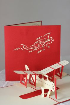 Hand made pop up air plane card...