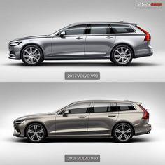 2017 Volvo vs 2018 Volvo Design Vergleich – Jan van der Voet – Join in the world of pin Volvo Wagon, Wagon Cars, Volvo Cars, Old Mercedes, Sports Wagon, Volvo Xc60, Station Wagon, Automotive Design, Motor Car