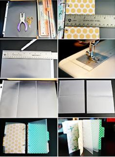 You can sew page protectors to make them any size you want. diy home sweet home: Tips, Tips, and More Tips