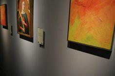 At the centre: Alvise Vivarini, Saint Catherine of Alexandria, XV cent. At the side: Gerhard Richter, Abstraktes Bild, 1980. Moretti Fine Art.