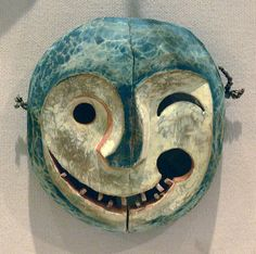 Mask depicting the face of a tunghak (keeper of the game), Yupik Eskimo, Alaska, Yukon River area, late 19th century