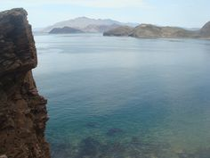 Bahia de los Angeles, Baja, CA Mexico.  The view from the isla Bota.