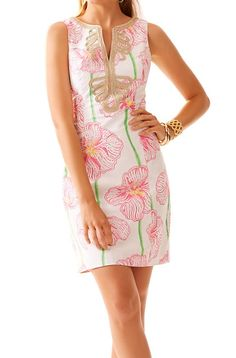 Lilly Pulitzer Janice Shift Dress in Resort White Clover Cup