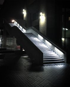 Stairway at the Barbican Centre