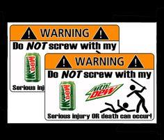 Mtn. Dew stickers...