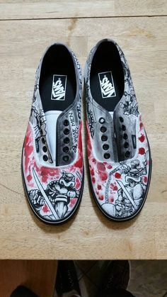 Custom Hand-painted Vans Shoes by Toothandnail76 on Etsy