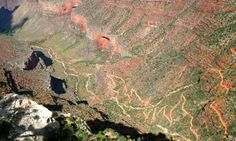 Bright Angel Trail Grand Canyon Arizona Hiking, this trail is so amazing when it's seen in person!