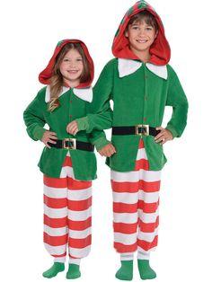 Halloween Kids Elf Zipster Jumpsuit Child Costume