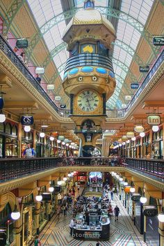 The Queen Victoria Building - shopping mall in Sydney Australia Visit Australia, Sydney Australia, Australia Travel, Victoria Building, Shopping Malls, Online Shopping, Places To See, Places To Travel, Land Of Oz