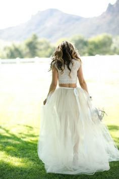 Non-Traditional Wedding Dress Ideas: Two piece