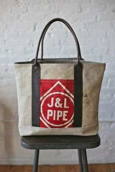 WWII era Sea Bag & Cotton Carryall