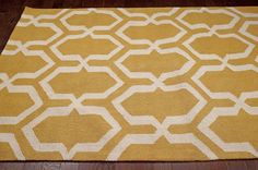 Rugs USA Radiante Trellis BC71 Gold Rug | Contemporary Rugs  Modern, yellow, home decor, interior design, style, home, house, decor, area rugs, modern, contemporary, pattern.