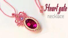 How to make macrame necklace the Heart gate - hướng dẫn thắt mặt dây chu...