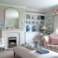 White living room with floral accents | Cosy living rooms | PHOTO GALLERY | Housetohome
