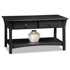 French Country Black End Table With Drawer And Shelf End Tables Accent Tables Living Room