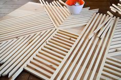 DIY Square Dowel Art (now this is a cool project)