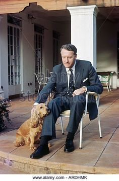 Ian Smith, Rhodesia prime minister, at home with pet spaniel; in 1965 he declared UDI, unilateral independence, - Stock Image Us History, African History, Ian Smith, Douglas Smith, Zimbabwe Africa, South African Air Force, Military Special Forces, Military Diorama, My Heritage