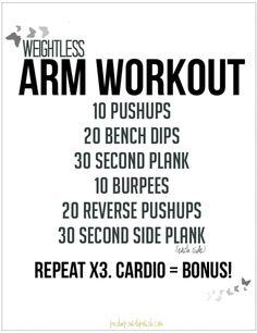 Weightless Arm Workout