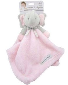 Blankets and Beyond Grey & Pink Elephant Baby Security Blanket Plush Pink Elephant Nursery, Baby Elephant, Baby Doll Toys, Toddler Dolls, Blankets And Beyond, Baby Stuffed Animals, Baby Security Blanket, Baby Gadgets, Baby Comforter